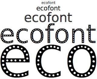 Ecofont es una tipografía agujereada que te permite ahorrar tinta en tus impresiones
