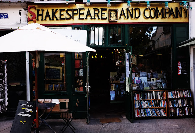 Shakespeare and Company exterior - Photograph by Tim Irving