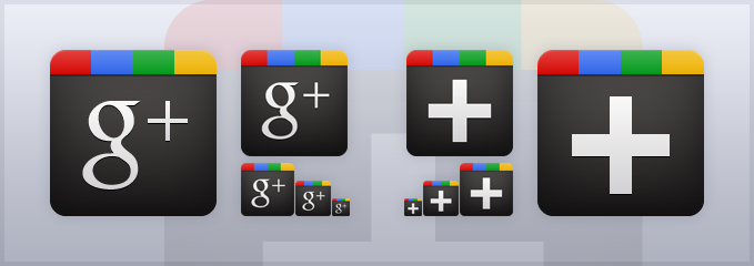 Google+ Icons Download by boldperspective