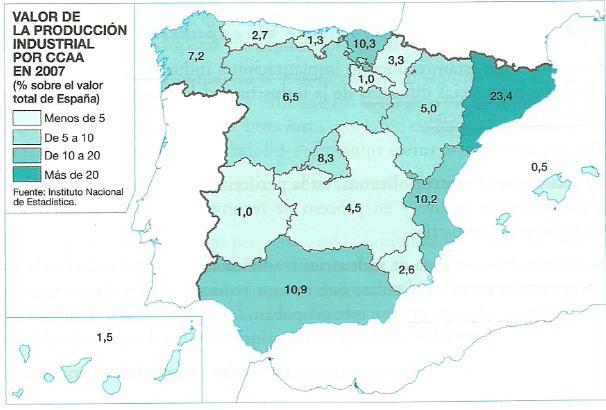 GEOPERSPECTIVAS PRCTICA MAPA DEL VALOR DE PRODUCCIN INDUSTRIAL