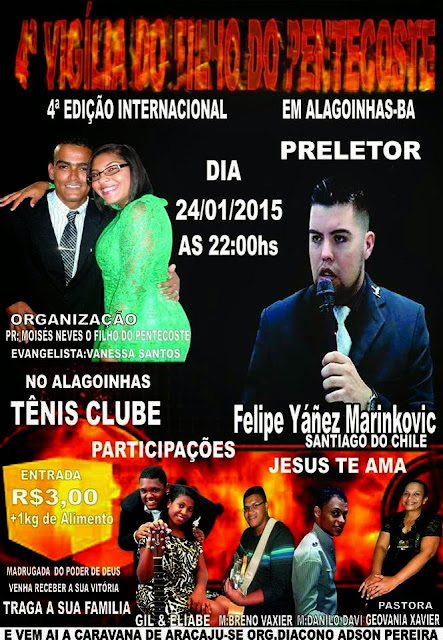 4ª Vigília do Filho do Pentecoste em Alagoinhas-BA