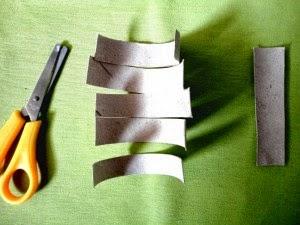 Como Hacer Flores con Papel y Tubos de Carton