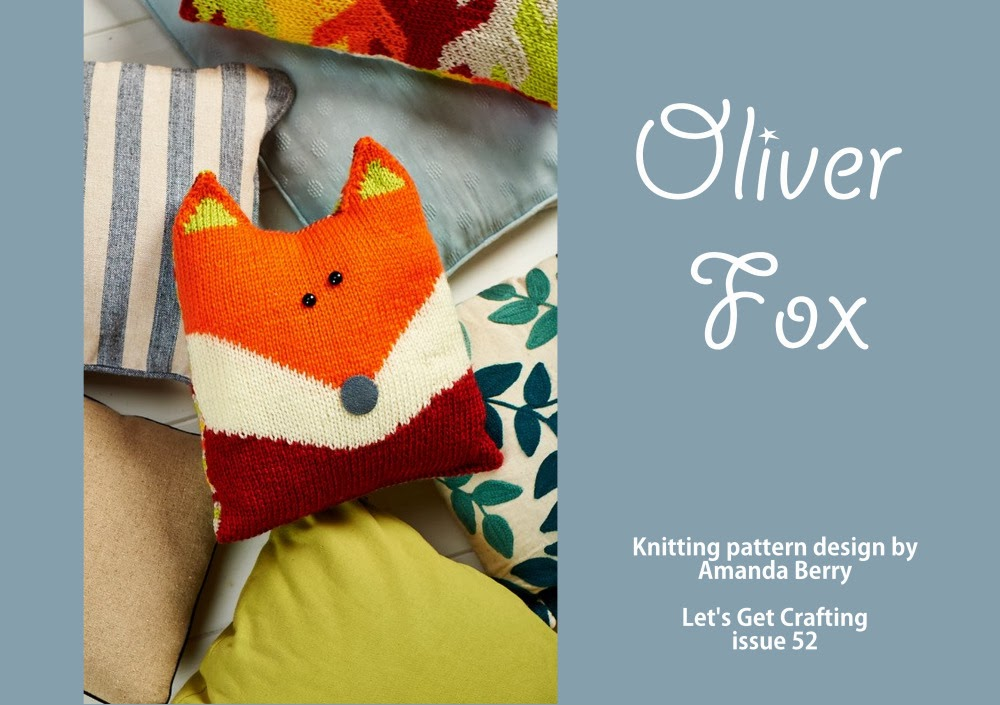 Knitnscribble Oliver Fox Cushion And Other Free Toy Patterns By