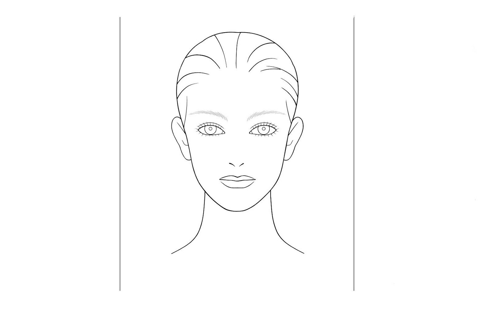 makeup face coloring pages blank makeup face chart boy face