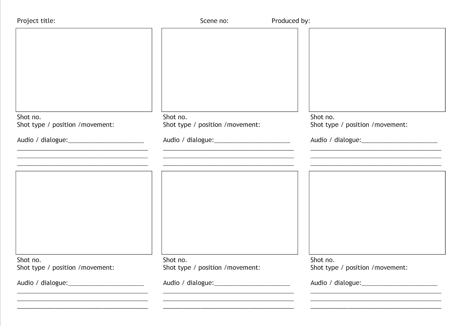 Blank Twitter Template For Students It's called 'blank storyboard