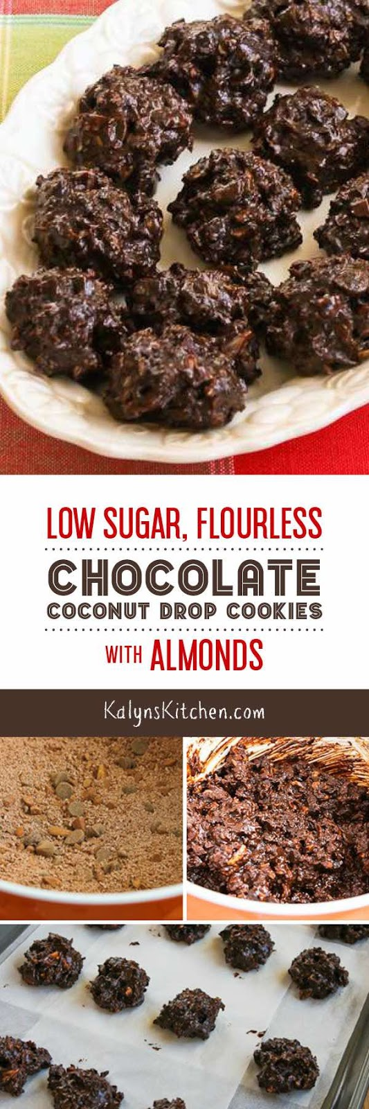 Low-Sugar and Flourless Chocolate Coconut Drops with ...
