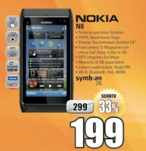 offerta sconto smartphone belle Nokia n8