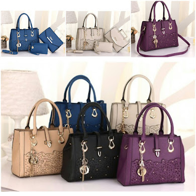 DIOR BAG ( 3 IN 1 SET ) - BLUE , GREY