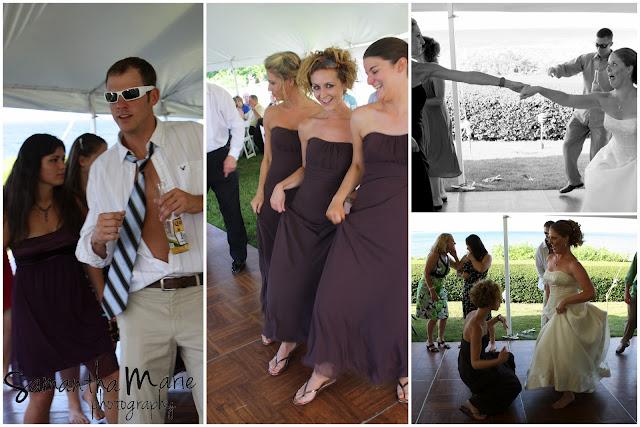 fun dancing at a wedding reception