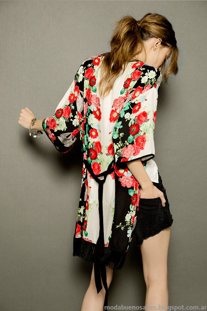 Moda verano 2015 Kimonos Tucci.