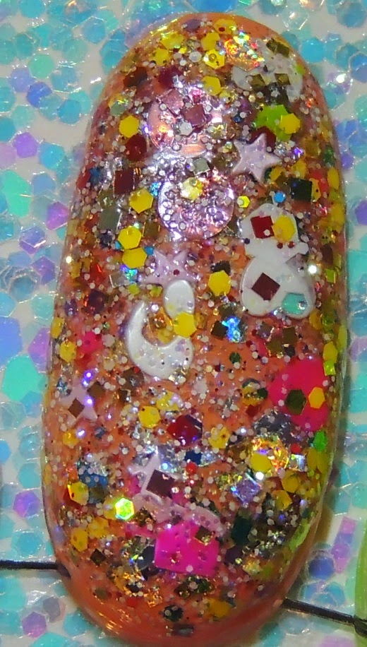 """VALENTINE SURPRISE CANDY"" Glitter Topper Indie Nail Polish by Glitter Lambs"