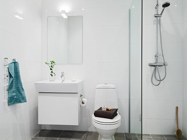 Our very first apartment cudowne azienki Bathroom designs for small flats in india