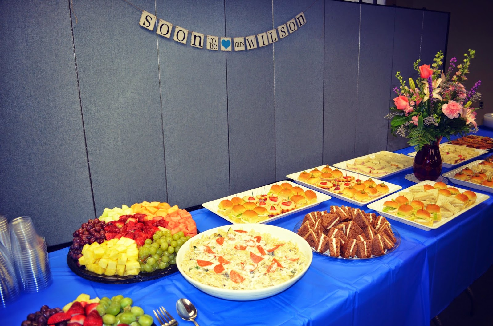 bridal shower luncheon menu walking on sunshine recipes