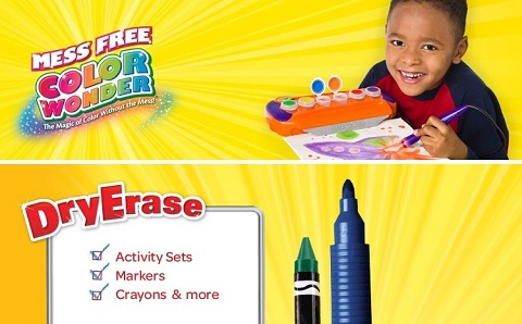 Crayola color wonder dry erase