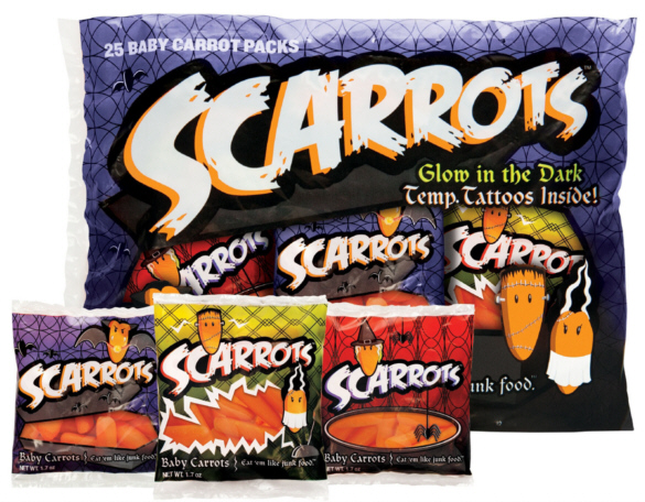 Spooky Halloween Baby Carrots