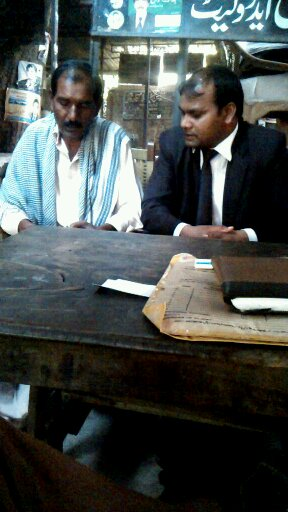 Ashiq Masih,husband of Asia Bibi,in meeting with Sardar Mushtaq Gill  HRD lawyer