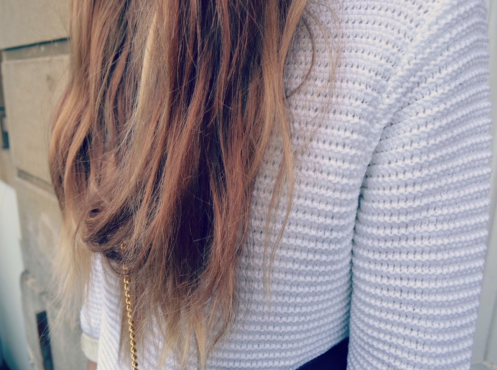 damart jumper ombre messy hair