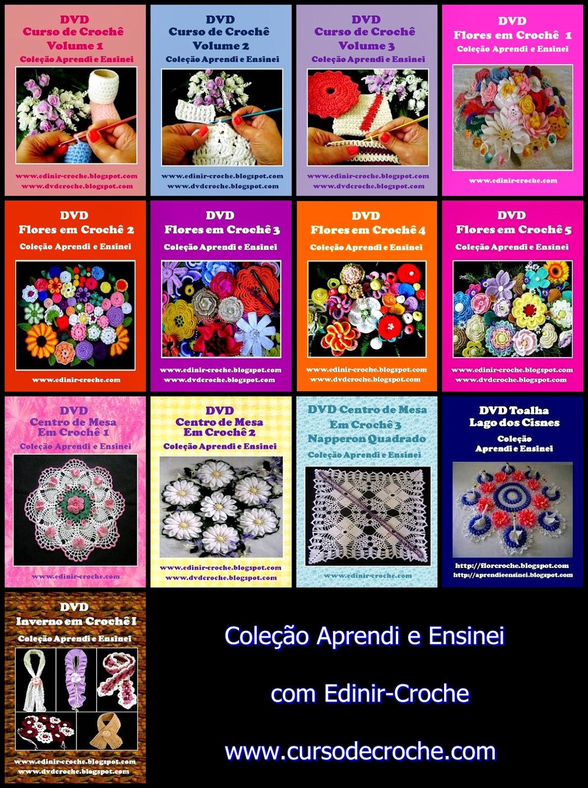 tapetes e variedades de croche com Edinir-Croche na loja curso de croche online