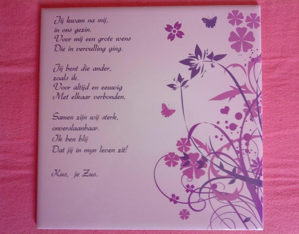 Verjaardag Gedicht Zus Dur 86 Wofosogo