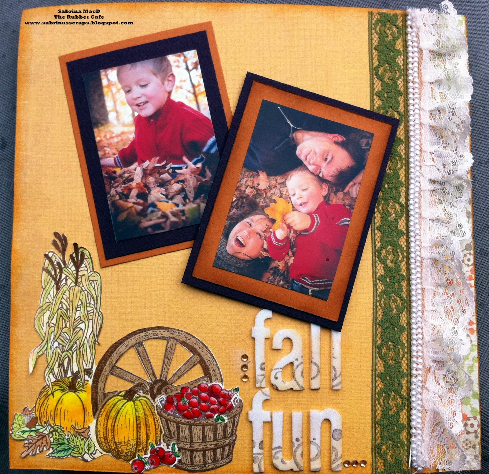 Fall 8x8 Scrapbook Layout