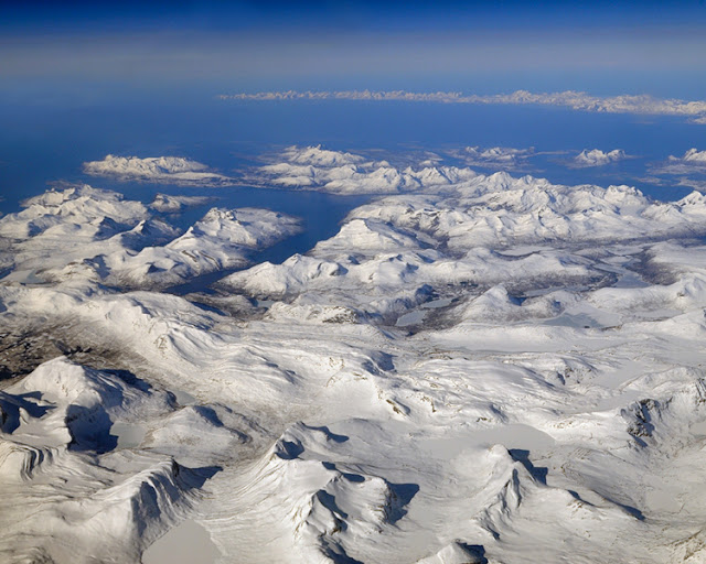 The island of Norway as seen from above