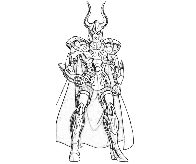 capricorn-shura-armor-coloring-pages