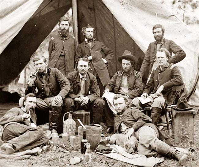 George armstrong custer, friend and captured confederate prisoner, lt