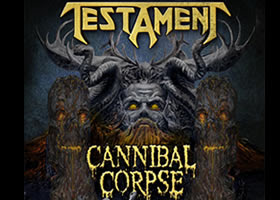 Testament y Cannibal Corpse en Chile 2015