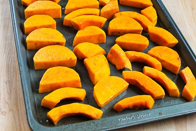 for Roasted Butternut Squash Wedges with Tahini-Yogurt Sauce, Sumac ...