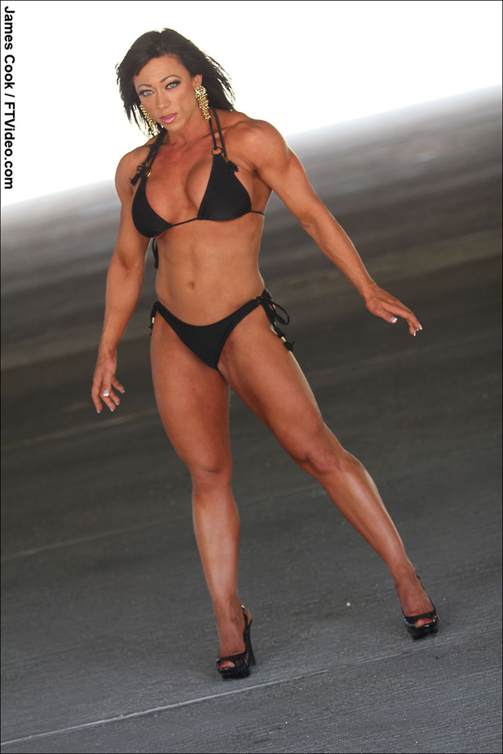 Trina Thompson Modeling Her Fit, Muscular Body