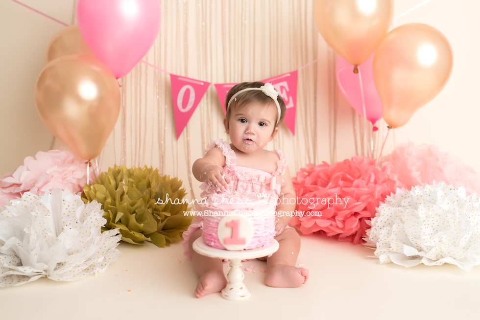 eugene springfield oregon baby photographer one year cake smash