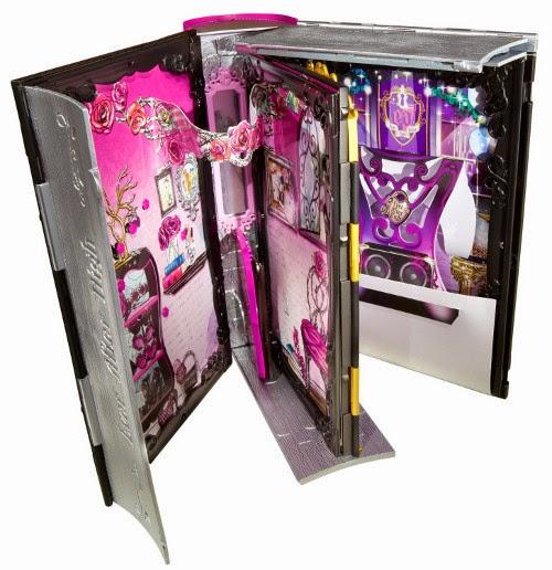 JUGUETES - EVER AFTER HIGH Thronecoming : La Gran Coronación   Briar Beauty Thronecoming Book | 3 Rooms in 1  Briar Beauty + Libro | 3 habitaciones en 1 | Accesorios + muñeca  Producto Oficial | Mattel BJH55 | A partir de 6 años