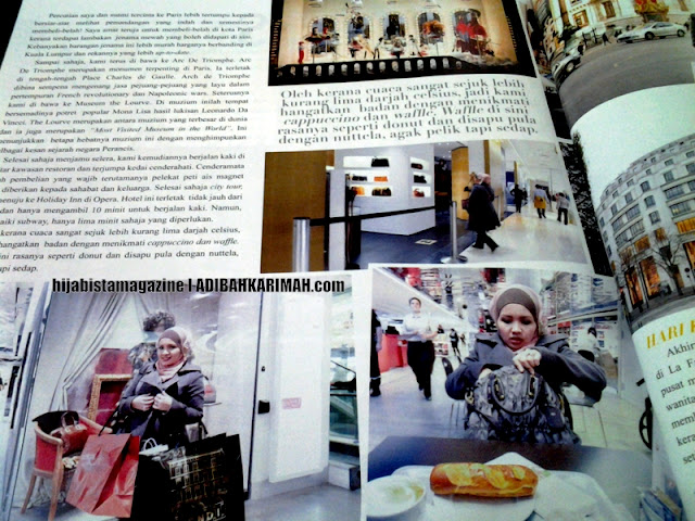 Hanis in Paris dalam hijabista magazine from Premium Beautiful