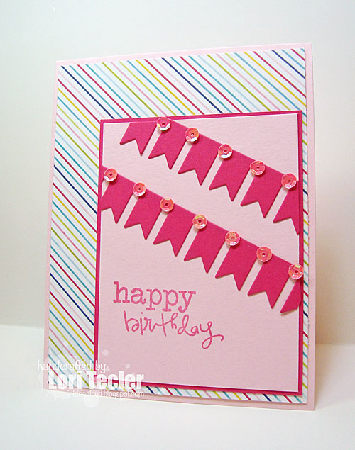 Birthday Banners card-designed by Lori Tecler/Inking Aloud-stamps and dies from Verve Stamps