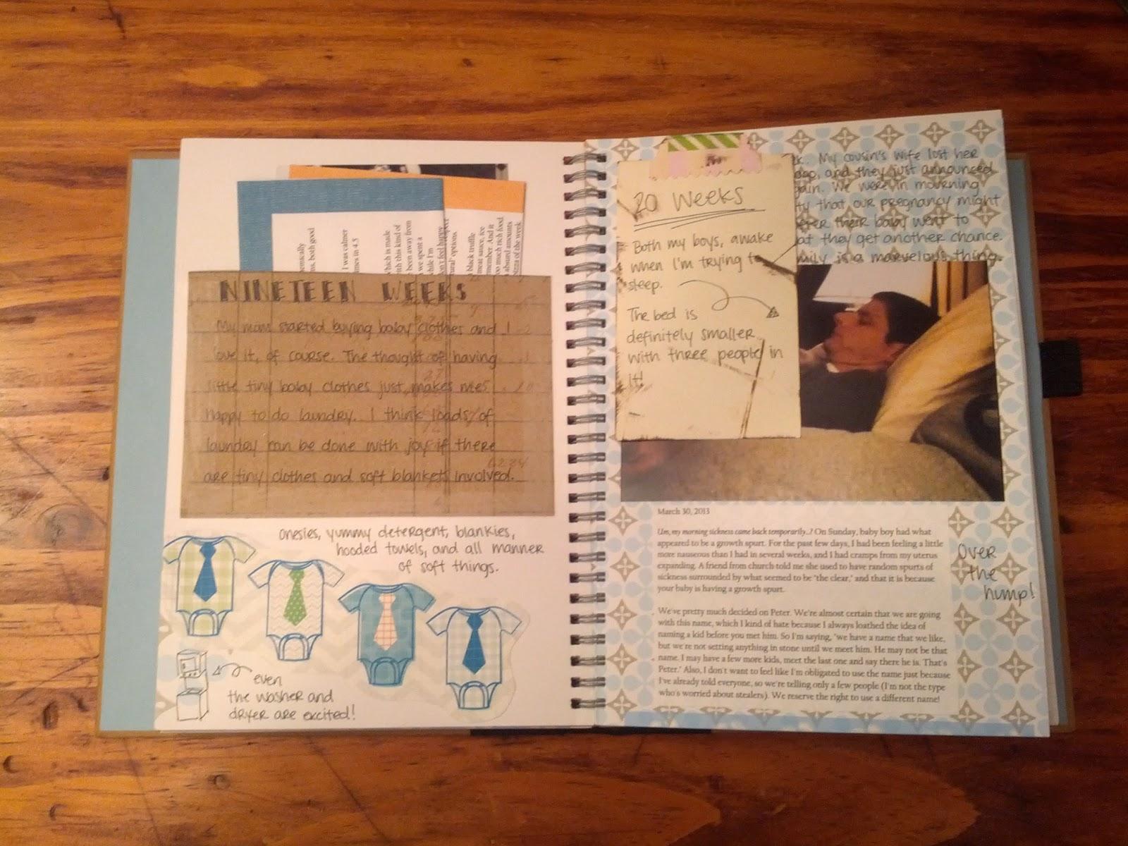 Baby journal scrapbook ideas - Baby Book Smash Book 2