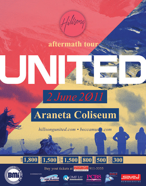 HILLSONG UNITED LIVE IN MANILA 2011 POSTER