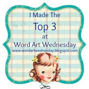 Top 3 winners Badge at Word Art Wednesday