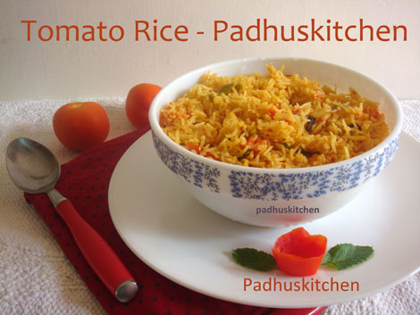 Tomato Rice-Tomato Pulao