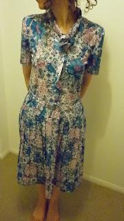 vintage elbise cicekli