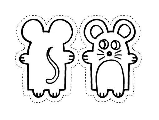 Moldes de titeres de raton - Imagui