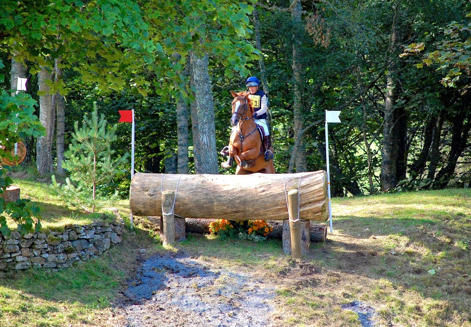 Drop fence at Blair Castle International Horse Trials