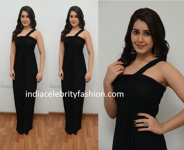 Raashi Khanna in Zulekha j Shariff Black dress
