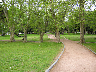 jogging path at Prado Montevideo Uruguay. Sport