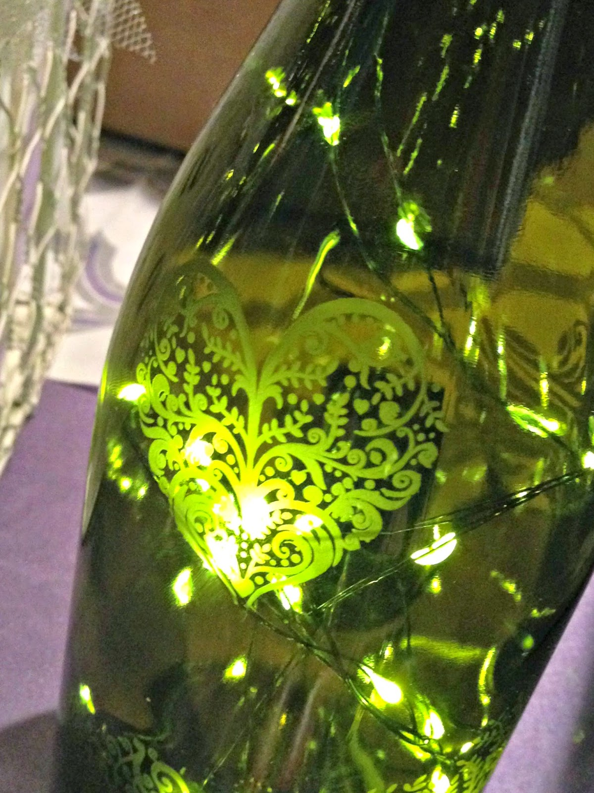 Etched Wine Bottles