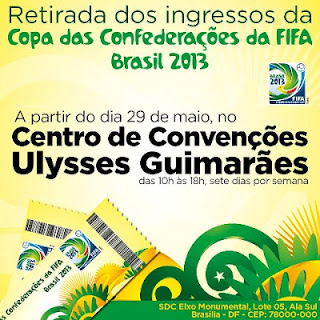 Local de retirada dos ingressos da Copa das Confederações em Brasília
