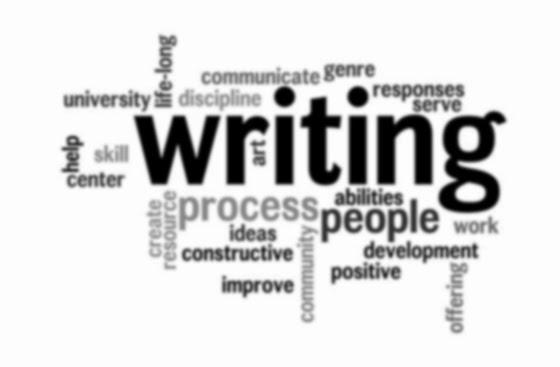 Escrevendo.