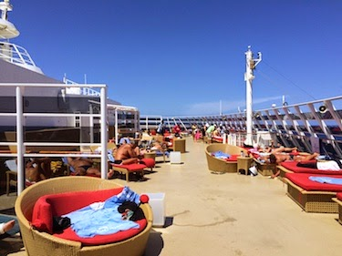 Chuck and Lori's Travel Blog - Norwegian Epic's Adults-Only Quiet Deck
