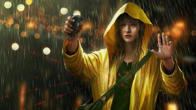 girl in rain wallpapers hd