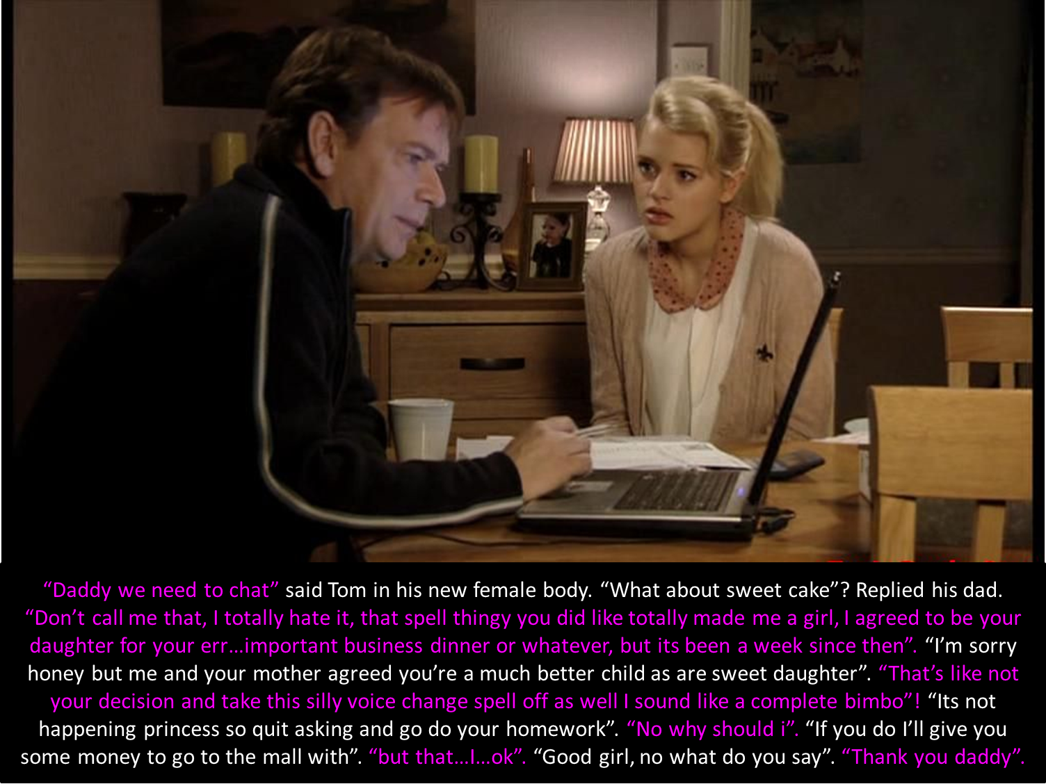 Hollyoaks Tg Captions Daughter Spell
