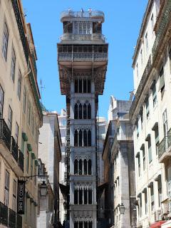 Elevador de Santa Justa, Santa Justa lift in Lisbon Portugal